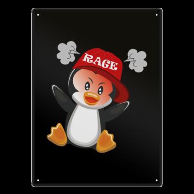 Motiv: Metallschild - Rage Pingu