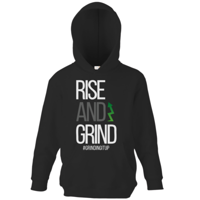 Motiv: Kids Hooded Sweat - grindingitup - rise and grind
