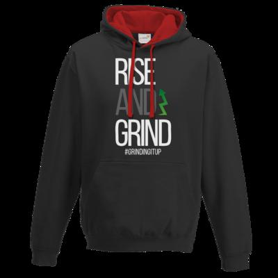 Motiv: Two-Tone Hoodie - grindingitup - rise and grind
