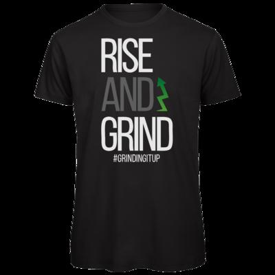 Motiv: Organic T-Shirt - grindingitup - rise and grind