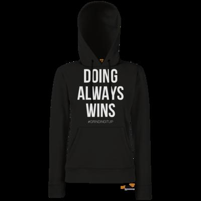 Motiv: Hoodie Damen Classic - grindingitup - doing always wins