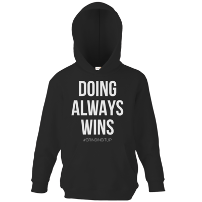 Motiv: Kids Hooded Sweat - grindingitup - doing always wins