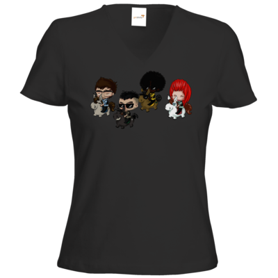 Motiv: T-Shirts Damen V-Neck FAIR WEAR - Baby DTU