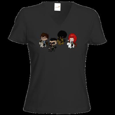 Motiv: T-Shirt Damen V-Neck Classic - Baby DTU