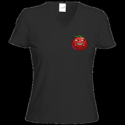 Motiv: T-Shirts Damen V-Neck FAIR WEAR - Giggle Momate