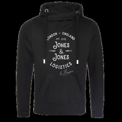 Motiv: Cross Neck Hoodie - Jones & Jones L&B