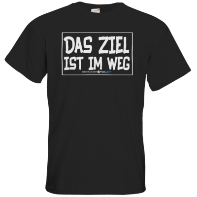 Motiv: T-Shirt Premium FAIR WEAR - Das Ziel ist im Weg