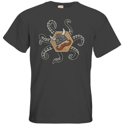 Motiv: T-Shirt Premium FAIR WEAR - Logo & Tentakel