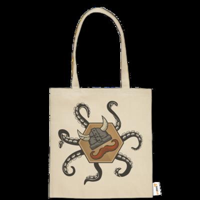 Motiv: Baumwolltasche - Logo & Tentakel