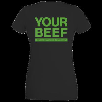 Motiv: T-Shirt Damen Premium FAIR WEAR - Yourbeef Logo block