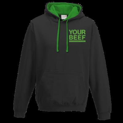 Motiv: Two-Tone Hoodie - Yourbeef Logo block