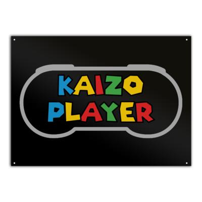 Motiv: Metallschild - Kaizo Player