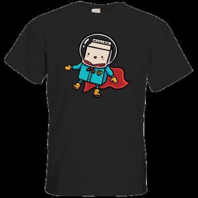 Motiv: T-Shirt Premium FAIR WEAR - Supermilich in outerspace