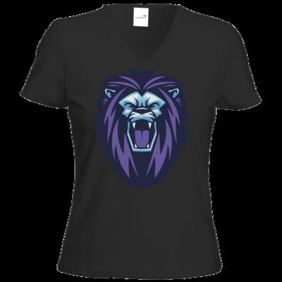 Motiv: T-Shirt Damen V-Neck Classic - Lion