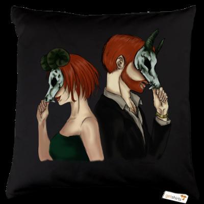 Motiv: Kissen Baumwolle - Ally und Sean