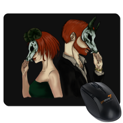 Motiv: Mousepad Textil - Ally und Sean