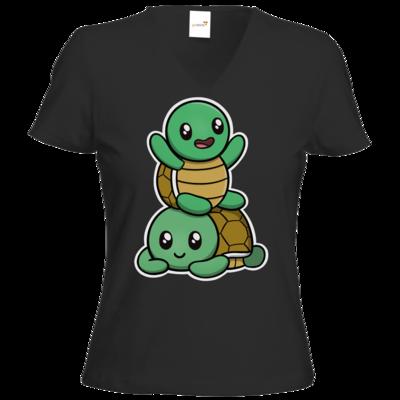 Motiv: T-Shirt Damen V-Neck Classic - Aktion