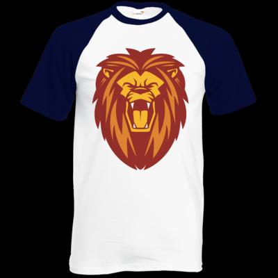 Motiv: Baseball-T FAIR WEAR - Lion gelb