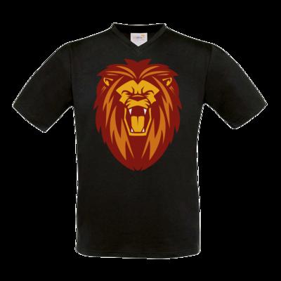 Motiv: T-Shirt V-Neck FAIR WEAR - Lion gelb