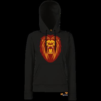 Motiv: Hoodie Damen Classic - Lion gelb