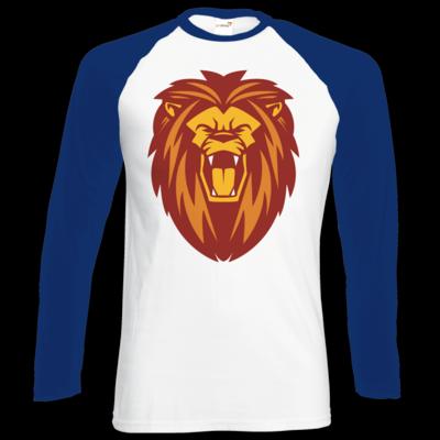Motiv: Longsleeve Baseball T - Lion gelb