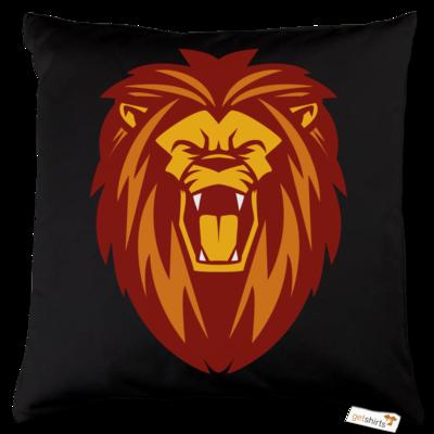 Motiv: Kissen Baumwolle - Lion gelb