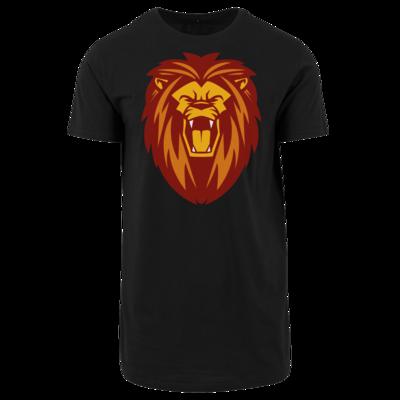 Motiv: Shaped Long Tee - Lion gelb
