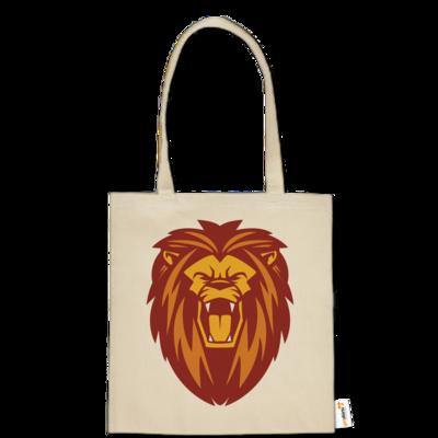 Motiv: Baumwolltasche - Lion gelb