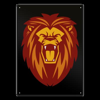 Motiv: Metallschild - Lion gelb