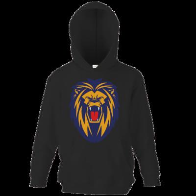Motiv: Kids Hooded Sweat - Lion blaugelb