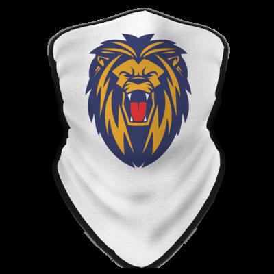 Motiv: Schlauchtuch - Lion blaugelb
