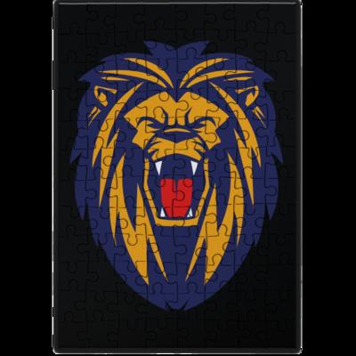 Motiv: Puzzle - Lion blaugelb