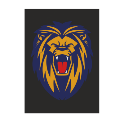 Motiv: Poster A1 - Lion blaugelb