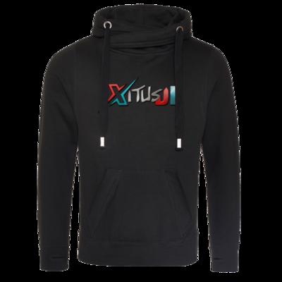 Motiv: Cross Neck Hoodie - XitusDE Logo