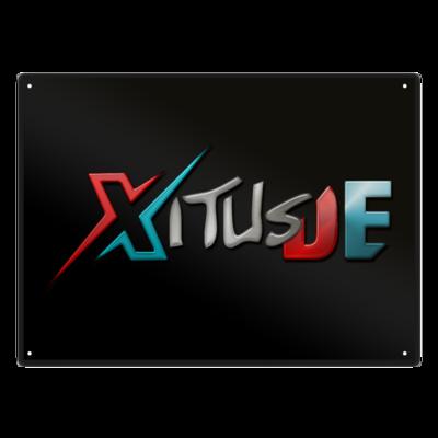 Motiv: Metallschild - XitusDE Logo