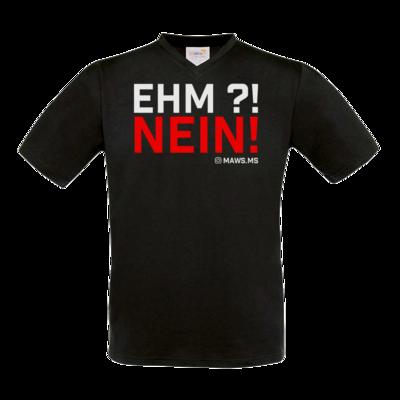 Motiv: T-Shirt V-Neck FAIR WEAR - Ehm? NEIN!