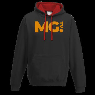 Motiv: Two-Tone Hoodie - Massengeschmack-Logo