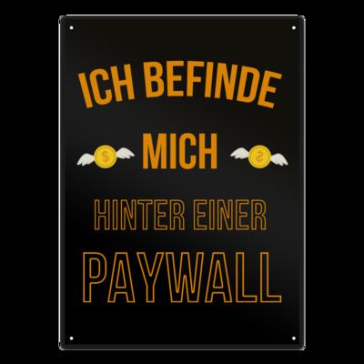 Motiv: Metallschild - Paywall