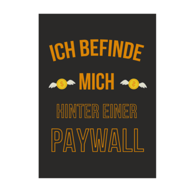 Motiv: Poster A1 - Paywall