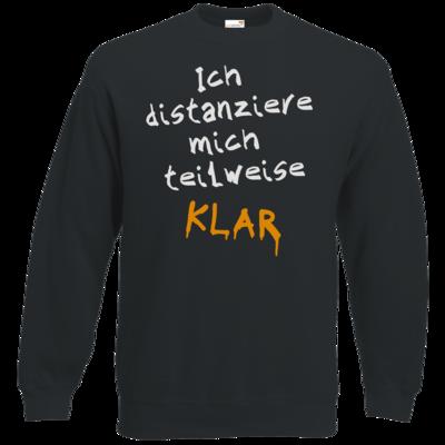 Motiv: Sweatshirt Classic - Ich distanziere mich teilweise klar