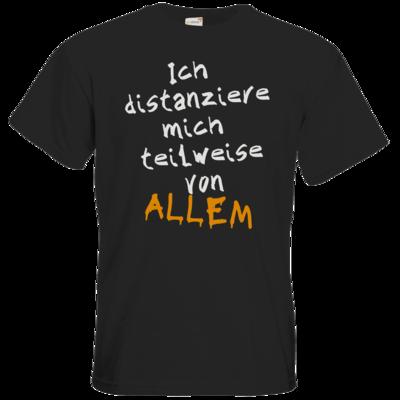 Motiv: T-Shirt Premium FAIR WEAR - Ich distanziere mich teilweise von allem