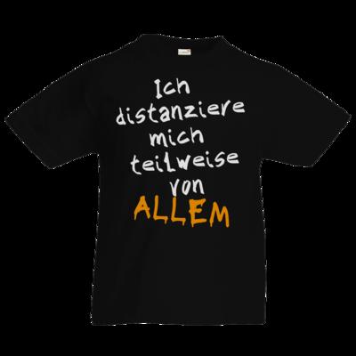 Motiv: Kids T-Shirt Premium FAIR WEAR - Ich distanziere mich teilweise von allem