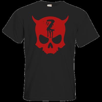 Motiv: T-Shirt Premium FAIR WEAR - Official ZAX73 Skull RED