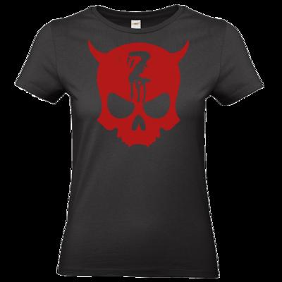 Motiv: T-Shirt Damen Premium FAIR WEAR - Official ZAX73 Skull RED