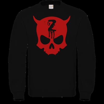 Motiv: Sweatshirt FAIR WEAR - Official ZAX73 Skull RED