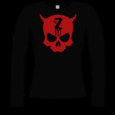 Motiv: Longsleeve Damen Organic - Official ZAX73 Skull RED