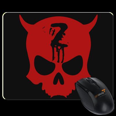 Motiv: Mousepad Textil - Official ZAX73 Skull RED