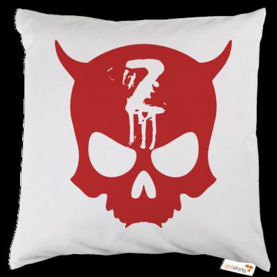 Motiv: Kissen - Official ZAX73 Skull RED