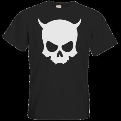 Motiv: T-Shirt Premium FAIR WEAR - ZAX73 Skull ohne Z BLACK