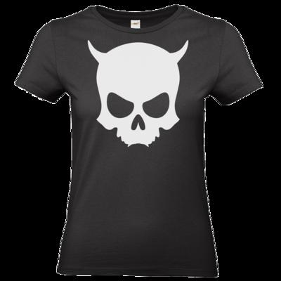 Motiv: T-Shirt Damen Premium FAIR WEAR - ZAX73 Skull ohne Z BLACK